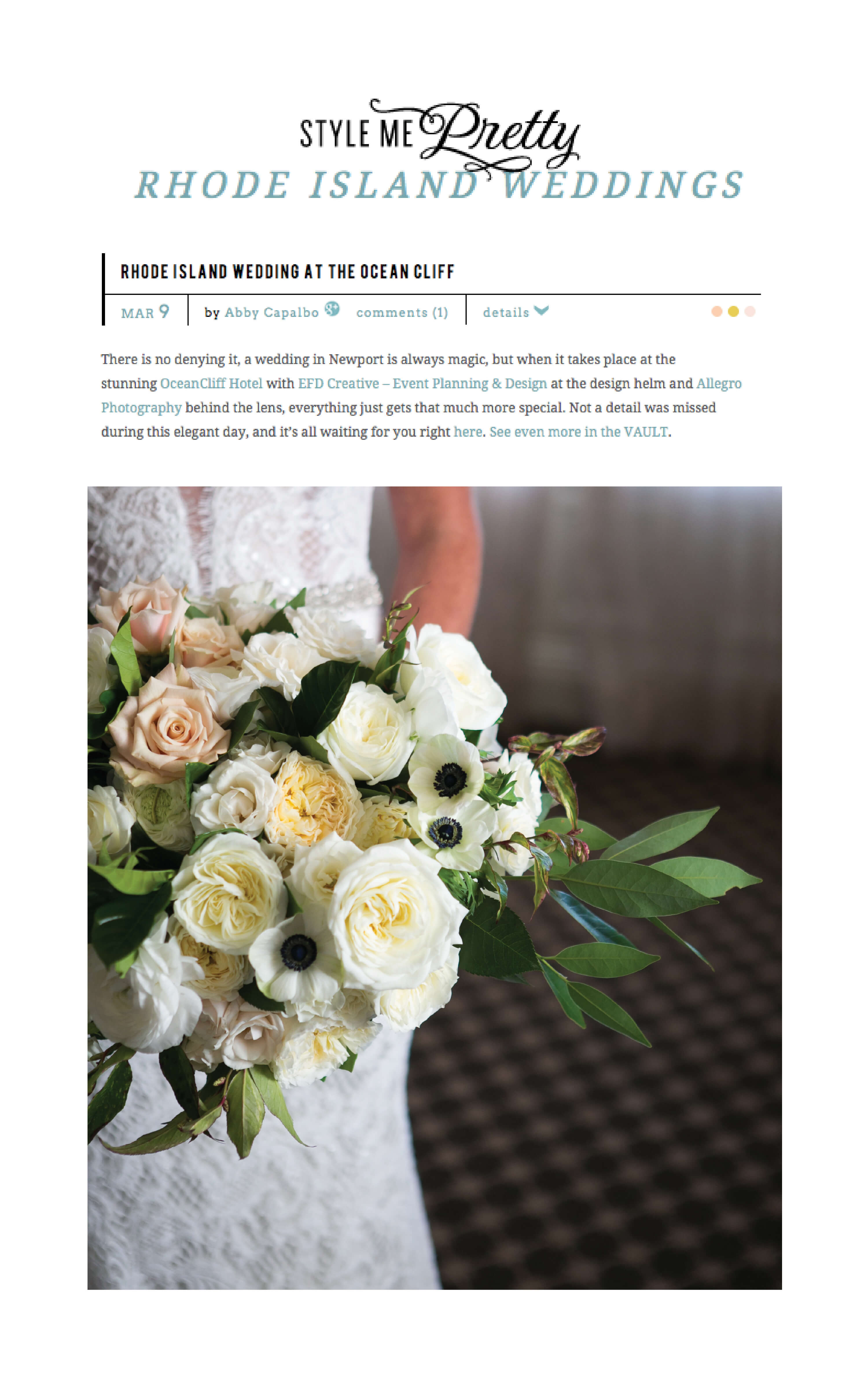 Efd creative featured on style me pretty ocean cliff ri wedding efd creative featured on style me pretty ocean cliff ri wedding mightylinksfo