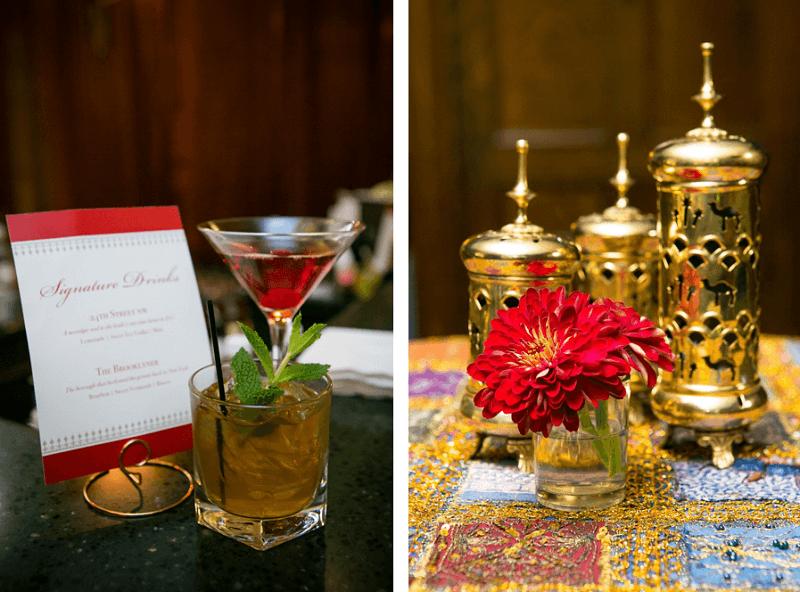 Signature Drinks Matching Event Decor
